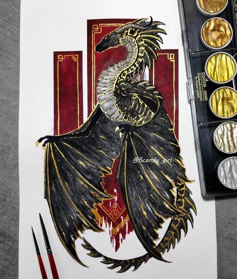 02-Wyvern-Dragon-Jonna-Hyttinen-www-designstack-co