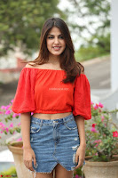 Rhea Chakraborty in Red Crop Top and Denim Shorts Spicy Pics ~  Exclusive 258.JPG