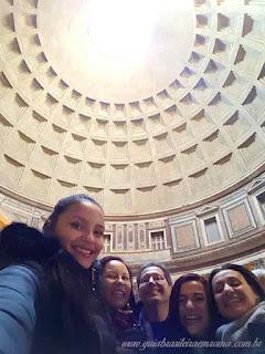 Pantheon guia brasileira Roma - Roma em um dia - Roma Clássica e Basílica de São Pedro