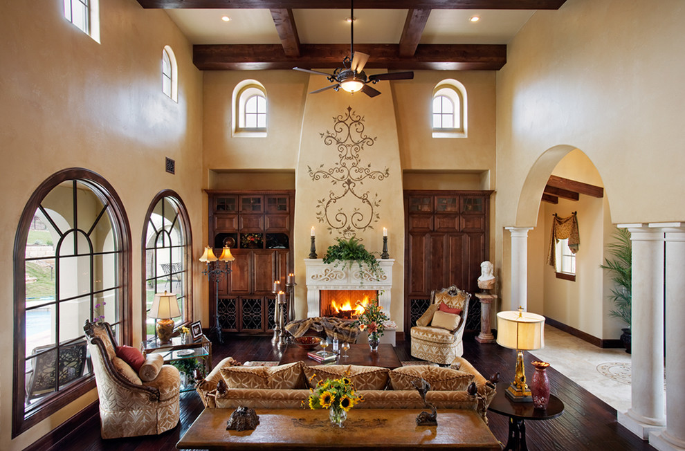 Inexpensive Touch A Large Piece Of Simple Fabric Swathed Above An Archway Is Excellent Idea Choose Color That Matches Your Living Room Scheme