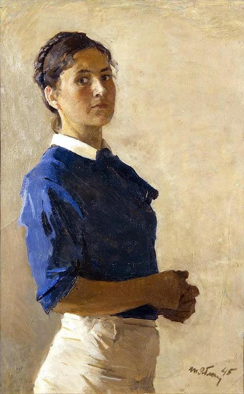 Tatiana Yablonskay, Self Portrait, Portraits of Painters, Fine arts, Portraits of painters blog, Paintings of Tatiana Yablonskay, Painter Tatiana Yablonskay