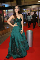 Raashi Khanna in Dark Green Sleeveless Strapless Deep neck Gown at 64th Jio Filmfare Awards South ~  Exclusive 126.JPG
