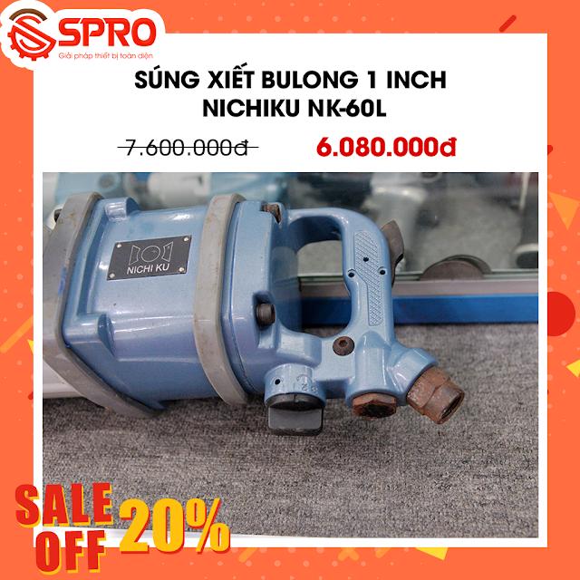 Giảm giá 20% Súng xiết bulong 1 inch Nichiku NK-60L