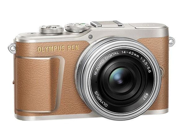 Olympus Pen E-PL9 коричневого цвета