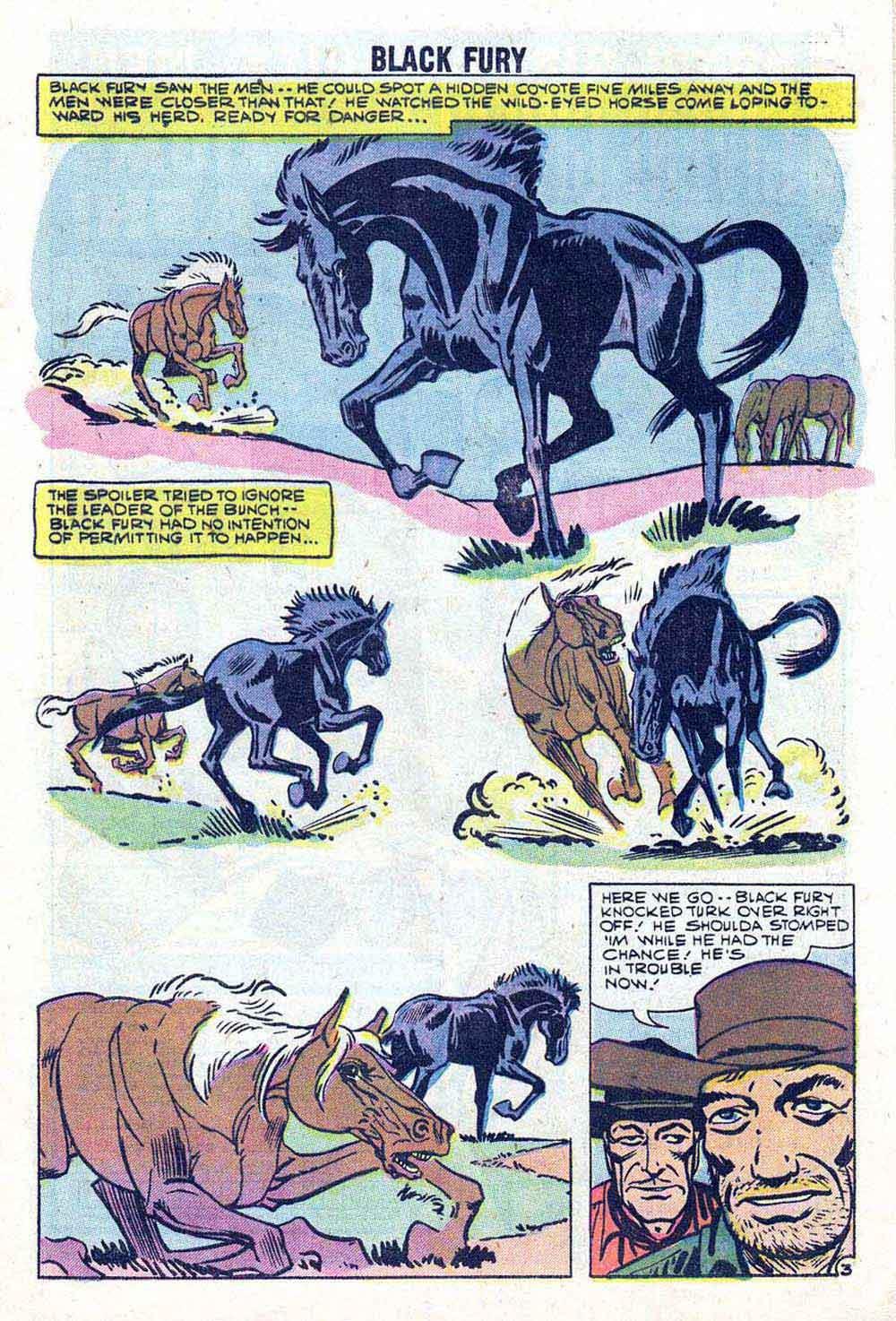 Black Fury v1 #17 charlton comic book page art by Steve Ditko