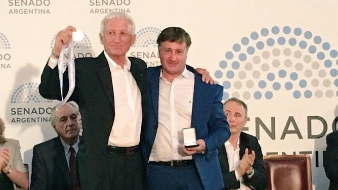 Guillermo «Yoyo» Maldonado fue premiado en el Senado de la Nación