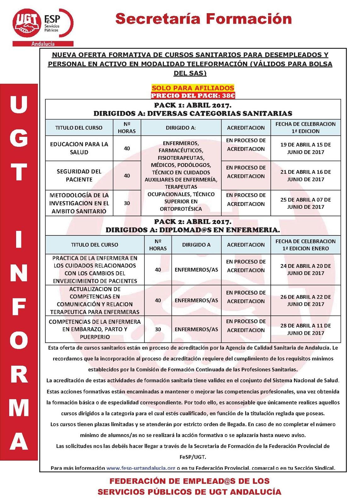 ugt hospital regional malaga oferta cursos sanitarios