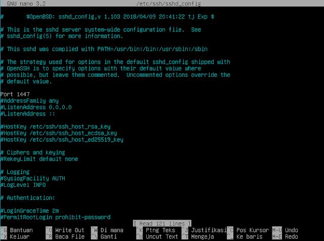 Konfigurasi SSH Server di debian