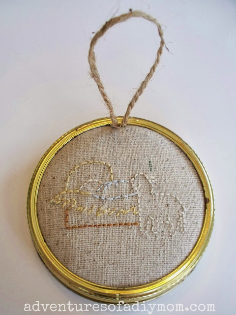 embroidered nativity scene