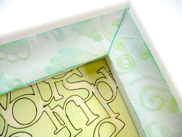 Embossed Fabric Tape Frame Tutorial by Dana Tatar for CropStop