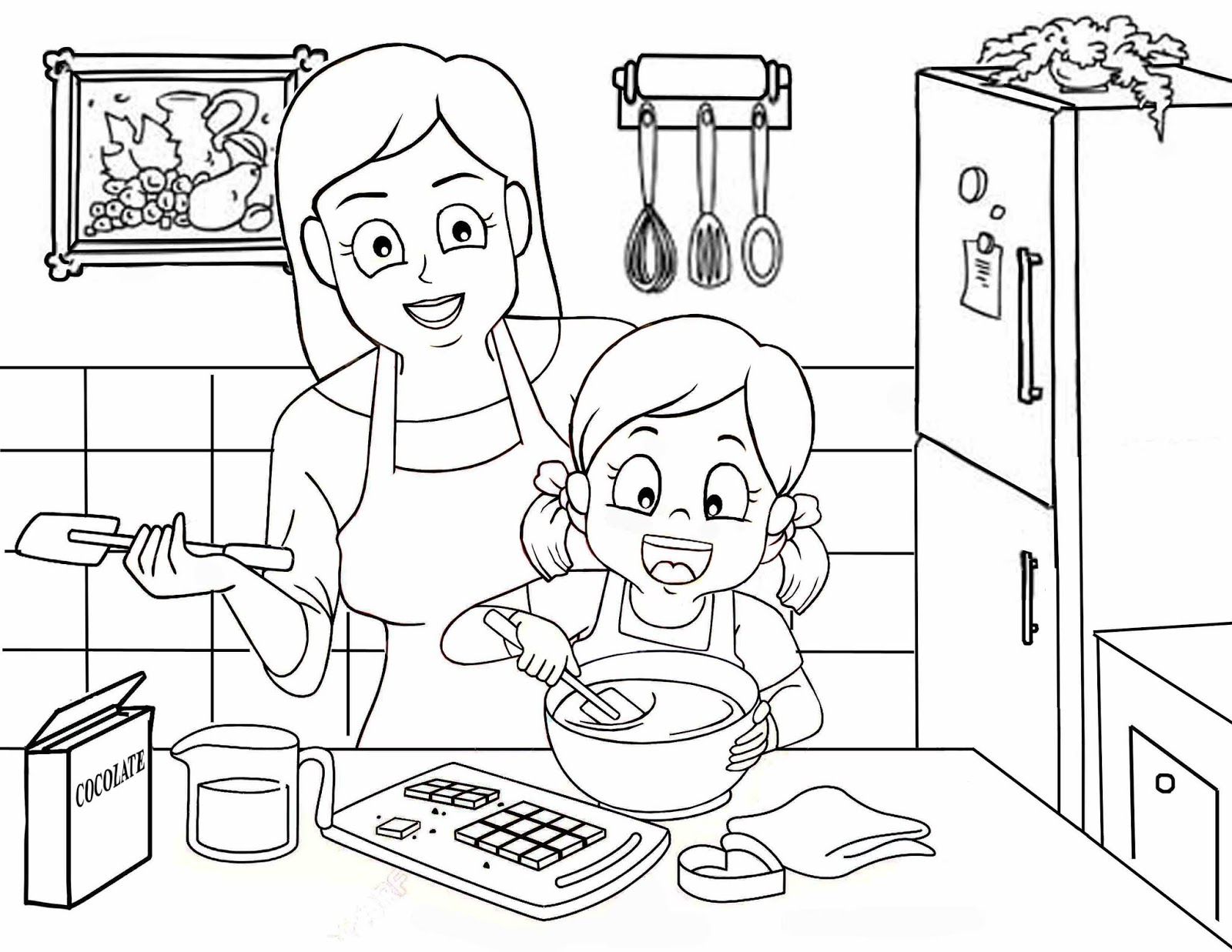 mewarna gambar dapur desainrumahid