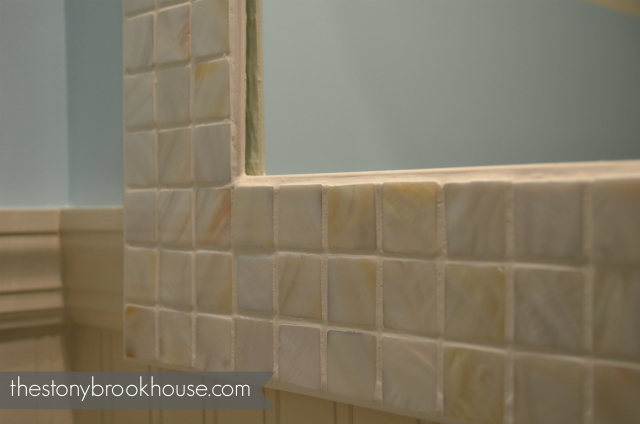 Grouted the inside trim a bit