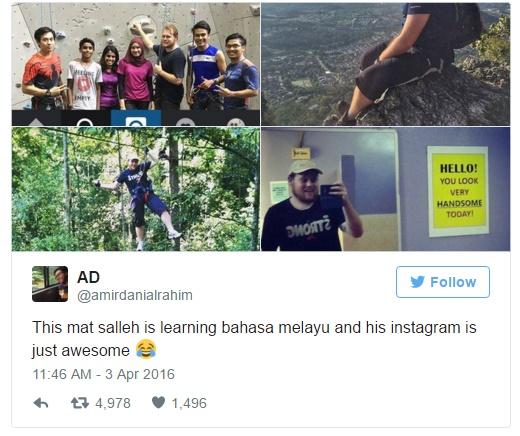 Rhys William Menggunakan Bahasa Melayu di Instagram Menjadi Viral