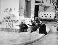 Greek Civil War | NLF Insurgents at a street fight