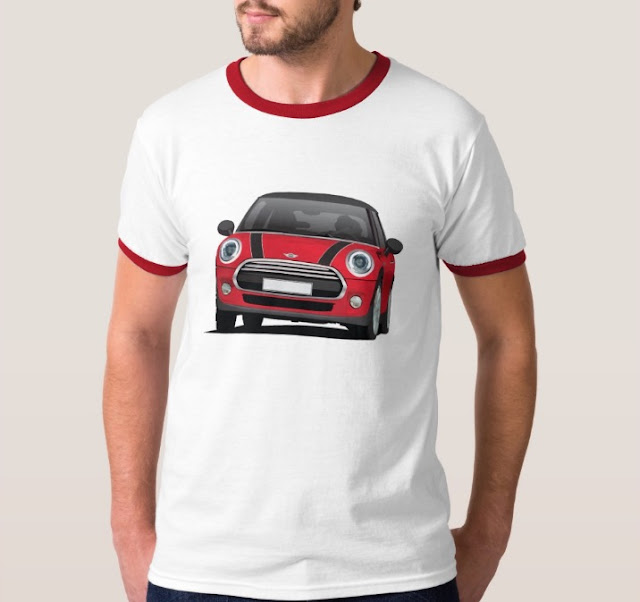MINI Cooper S illustration t-shirts on Zazzle