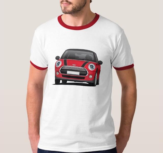 MINI Cooper S illustration t-shirts on Zazzle