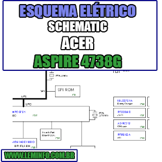 Esquema Elétrico Acer Aspire 4738 G Notebook / Laptop Manual de Serviço - schematic service manual