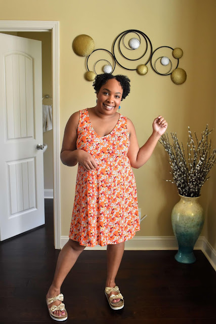 a.n.a. Sleeveless Floral Swing Dress from JCPenney
