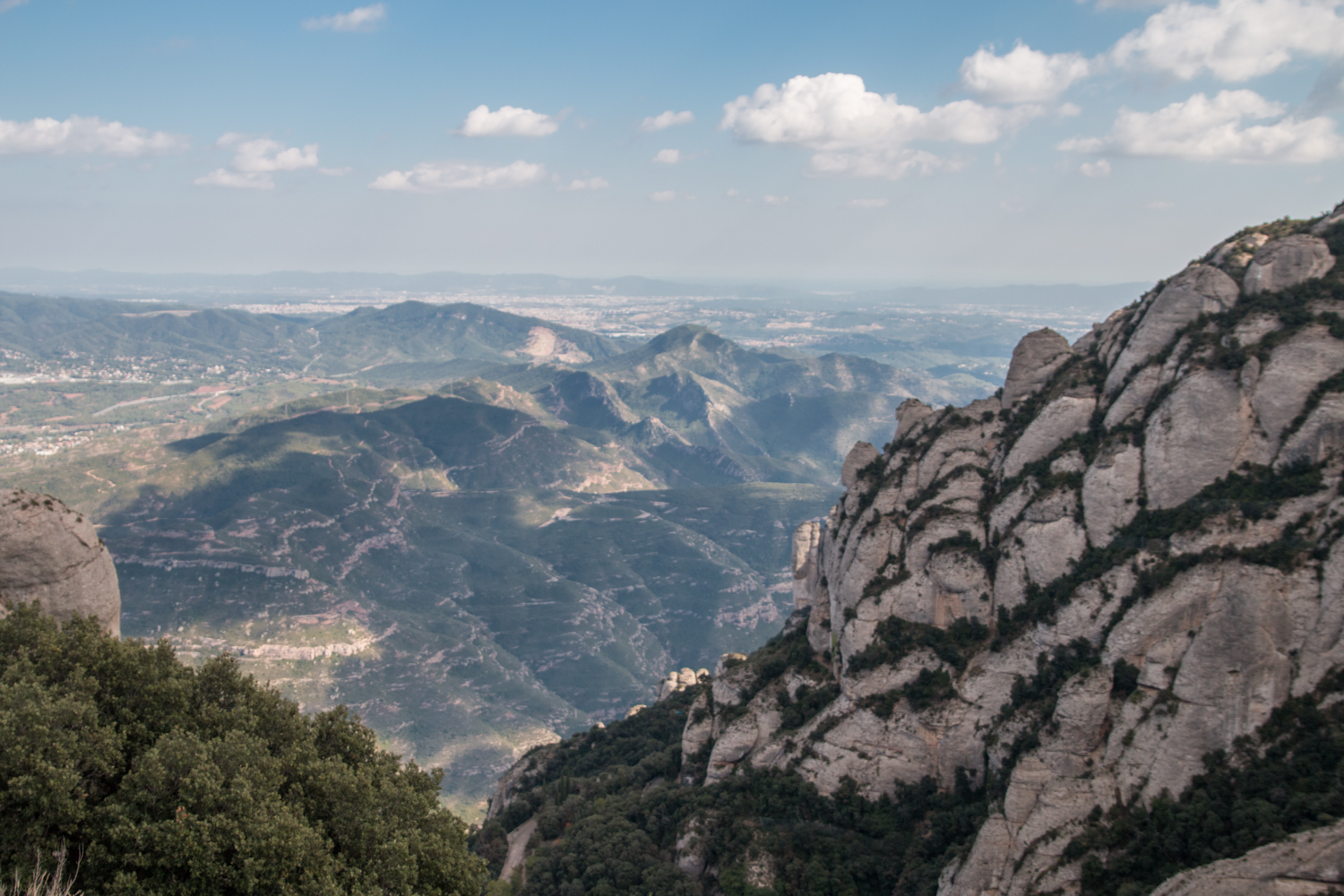 Hiking the route at Montserrat Barcelona to Sant Jeroni the highest point