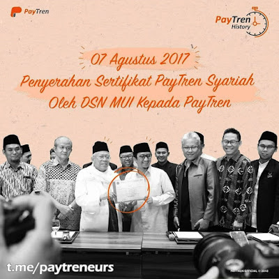 Setahun Penyerahan Sertifikat PayTren Syariah Oleh DSN MUI kepada PayTren