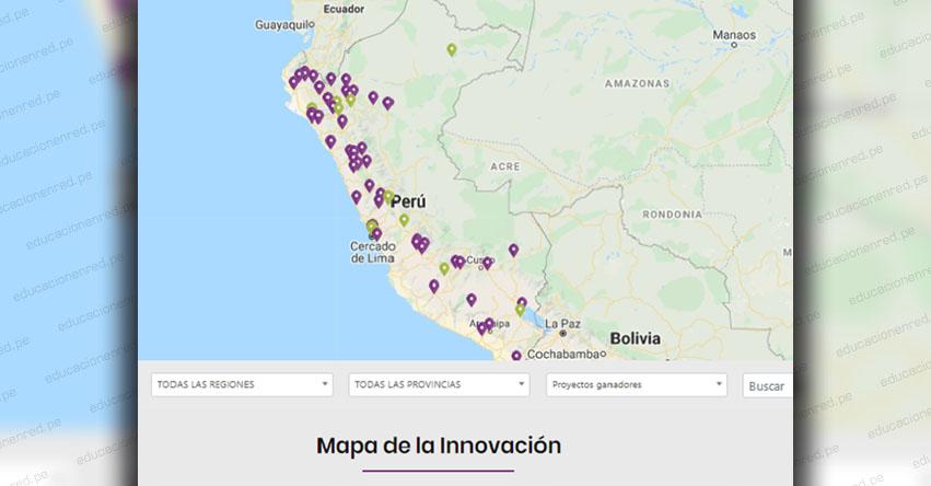 Docentes pueden ubicar proyectos innovadores en mapa georreferencial del FONDEP