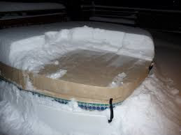 Snow on Hot Tub Cover