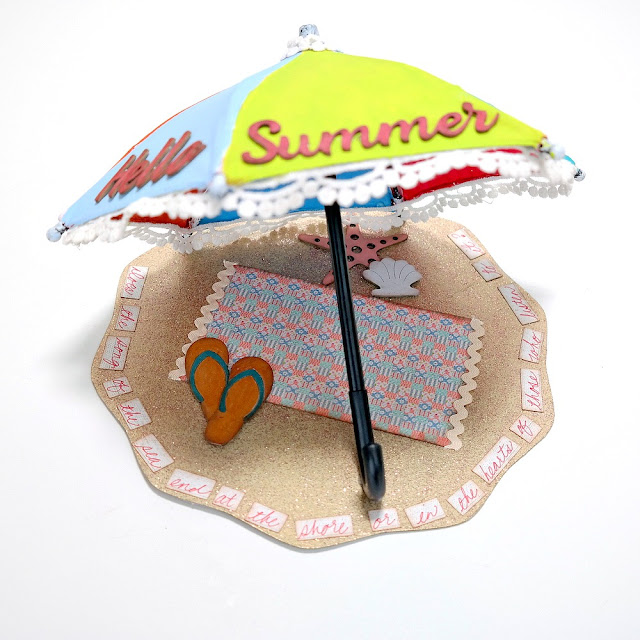 Hello Summer Beach Umbrella Scenelit by Dana Tatar for FabScraps