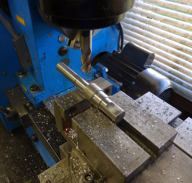 milling set screw flats on shaft