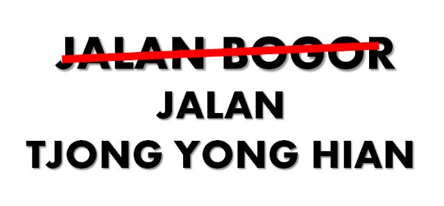 Jalan Bogor Menjadi Jalan Tjong Yong Hian https://www.ceritamedan.com/