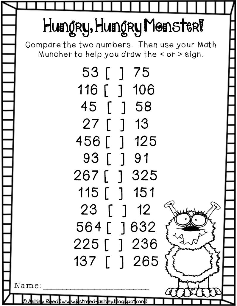 greater than less than with max the math monster just reed