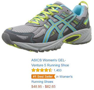Amazon's #1 best seller in women's running shoes - the ASICS Gel-Venture 5
