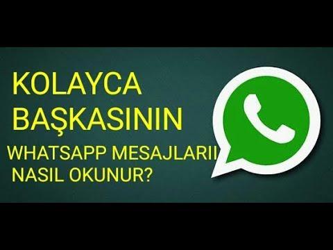 başkasının whatsapp mesajlarını okumak mümkün mü