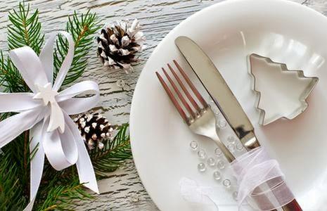 Menú de Navidad, mesa de Navidad decorada, mesa de Navidad, mesa navideña