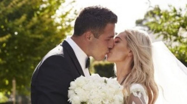 Rabbitohs star Sam Burgess marries Phoebe Hooke in star-studded wedding