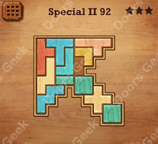 Cheats, Solutions, Walkthrough for Wood Block Puzzle Special II Level 92