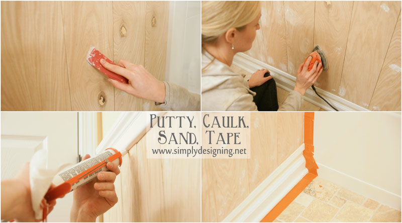 Putty, Caulk, Sand and Tape