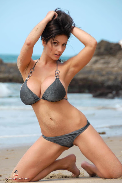 Denise-Milani-Beach-Silver-bikini-hottest-photoshoot-pics-36