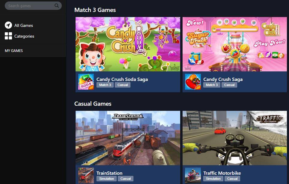 facebook games not loading windows 10