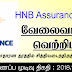 Vacancy In HNB Assurance PLC