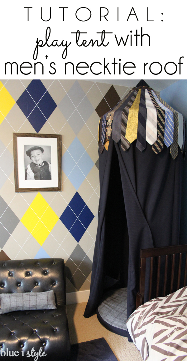Upcycle Neckties for DIY Hanging Tent - Recycled Neckties