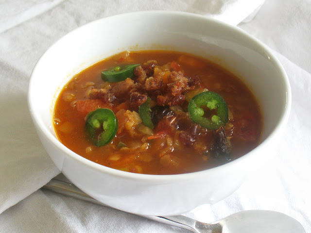 roasted red pepper soup with lentils