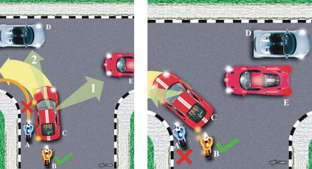 Hati-Hati jika Berkendara Dibelakang 6 Pengendara Motor ini, Sabar kalau Mau Nyalip