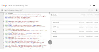 Perbloggeran Structured Data Testing Tool