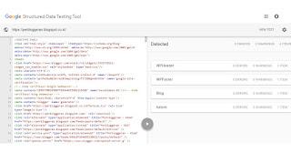 Perbloggeran Structured Data Testing Tool