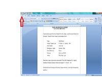 Cara Cepat dan Singkat Ngeprint Kertas di Microsoft Word 2007
