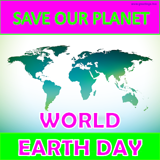 World Earth Day Wold Map Image Back ground Greetings