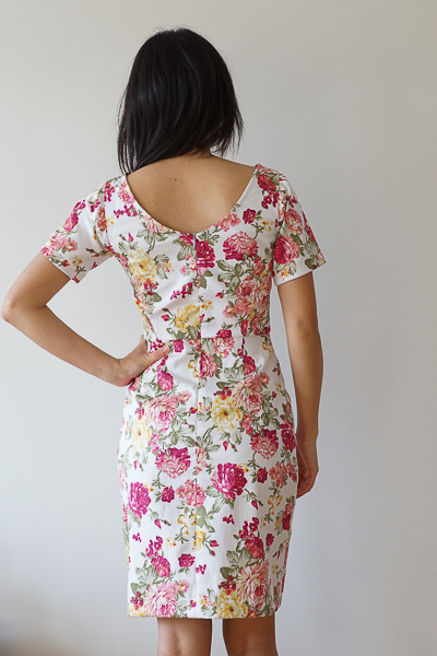 Elisalex McCalls 3830 Floral Dress Mad Men