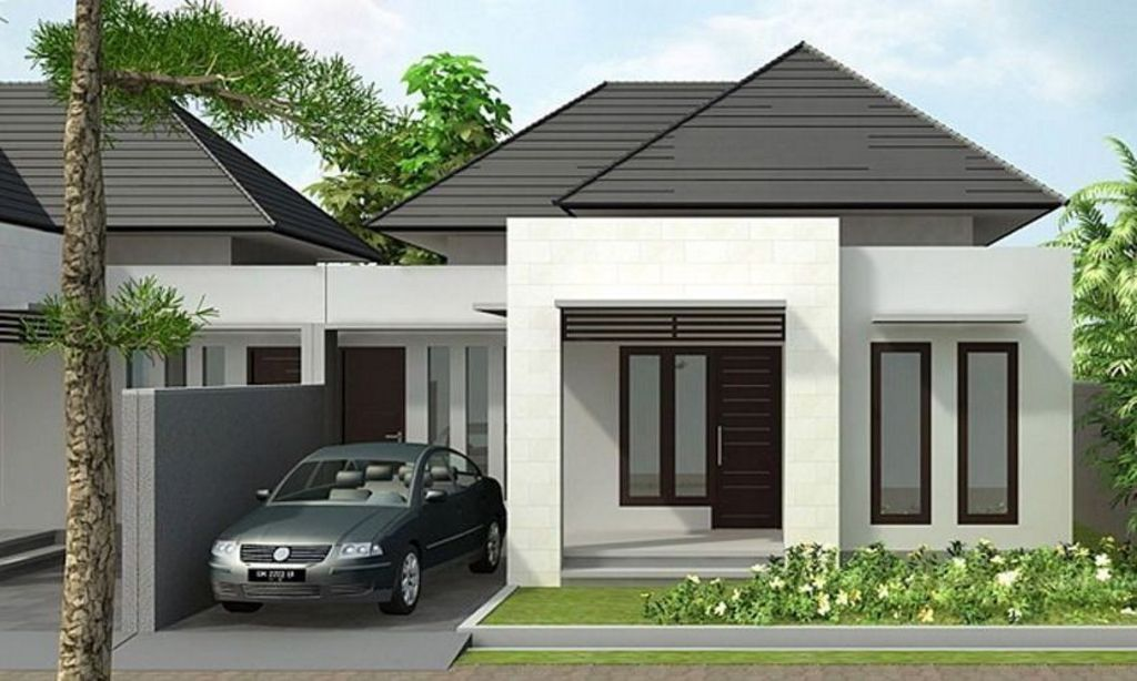 rancangan rumah type 45 bagus yang menarik