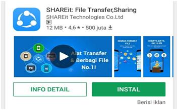 mengatasi error connect shareit