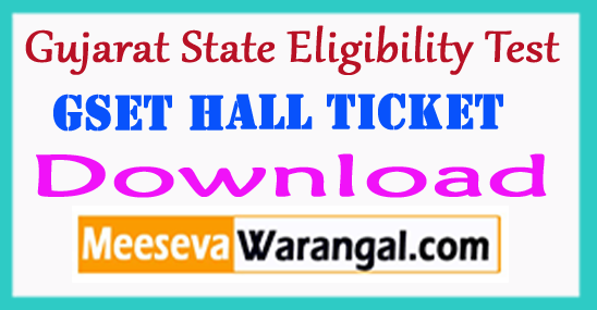 Gujarat SET e-Admit Card 2018 GSET Hall Ticket Download